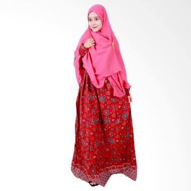 Batik Putri Ayu Solo Batik Syari GH2 Gamis - Pink