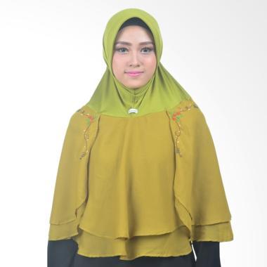 Atteena Hijab Alifa Rafiqah Medium Jilbab Instant - Hijau Lumut