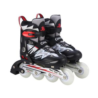 Cougar ADJ.Junior Inline Skate W-ABEC7 MS835L-BK-WH Lightning Wheels