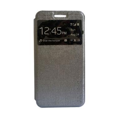Myuser Flip Cover Casing for Samsung Galaxy Mega 5.8 Inch - Abu abu
