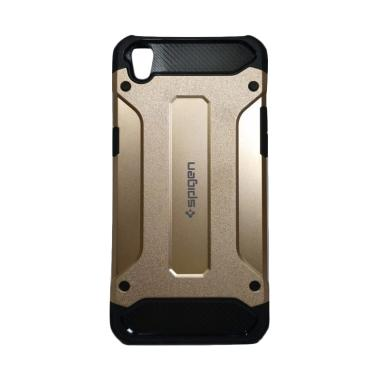 Spigen Iron Army Cover Casing for OPPO A37 / Neo 9 - Gold