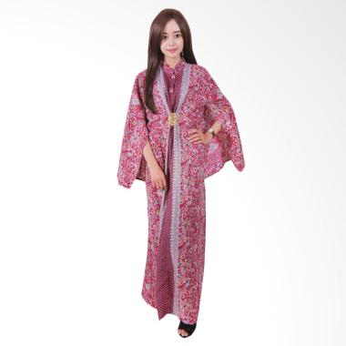 Batik Putri Ayu Solo C111 Maurascape Gamis - Maroon