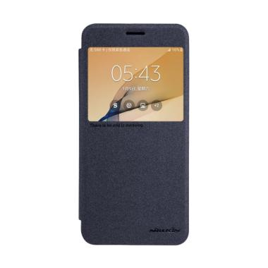 Nillkin Sparkle Leather Flip Cover  ... J5 Prime On5 2016 - Hitam
