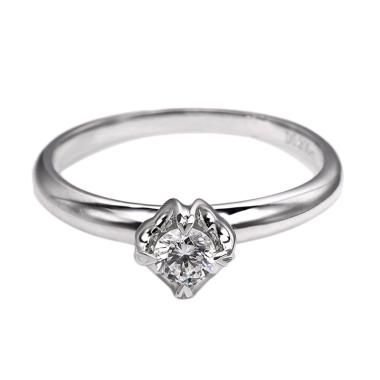 Tiaria DJXJZ004 Diamond Ring Emas Putih [18 K]