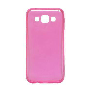 Ultrathin Transparant Softcase Casing for Vivo V3  - Pink