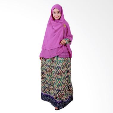 Batik Putri Ayu Solo GH1 Batik Gamis Syari - Hijau