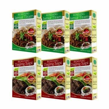 Laziz! Food 3 Rendang Daging Sapi & ...  Chili Set Makanan Instan