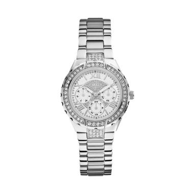 GUESS Watch W0111L1 VIVA Stainless Steel Jam Tangan Wanita - Silver