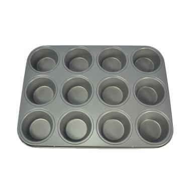 Bursa Dapur Master Pastry Non-Stick Muffin Pan [12 cup] Silver