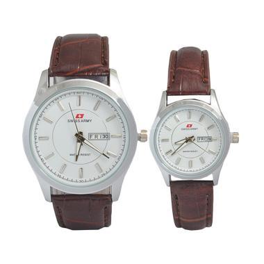 Swiss Army SA003CDBSW Casual Watch Jam Tangan Couple - White