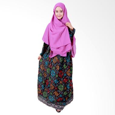 Batik Putri Ayu Solo GH1 Batik Gamis Syari - Hitam