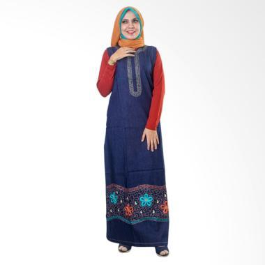 Believe AG-23 Baju Muslim Gamis Dress Modern Wanita Kaos Soft Jeans