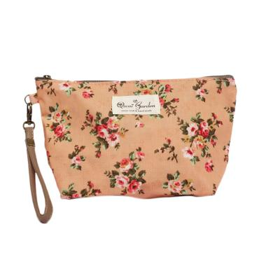 Qzcai Gardon MSL 006 Flower Dompet Cosmetic - Orange