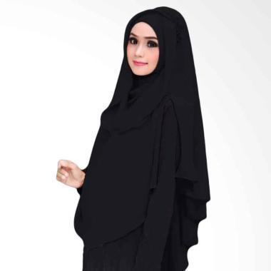 Kus Group Hijab Khimar Al Zaina Kerudung Instan Syar'i black