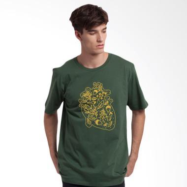 Monstore MAJ1701004GRN0 Majestic Heart Tee Unisex T-Shirt - Green