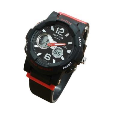 Jam Tangan Fortuner Dualtime J908AD Rubber Strap [ Wanita ] - Hitam