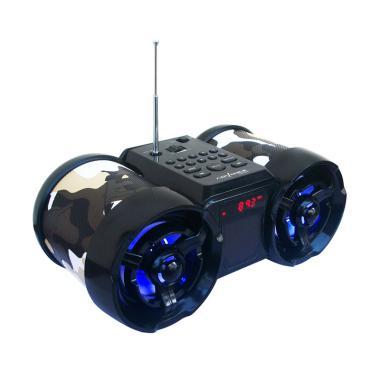Advance TP-666 Army Speaker Portabl ... a And LED Digital - Hitam