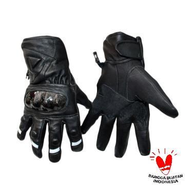 Gauravi Fashion 028 Full Gloves Sarung Tangan - Black White