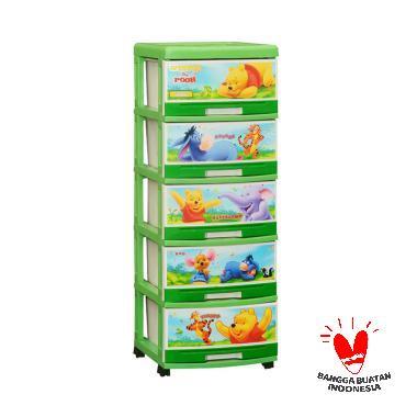 Furnico Napolly SFC2-5000 Winnie Th ... ri Anak - Green [5 Susun]