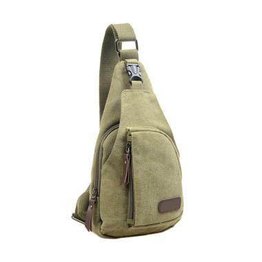 Martinversa Canvas Import Sling Bag Tas Pria - Army Green