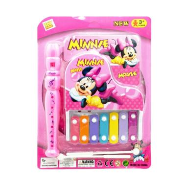 TSH Minnie Mouse Music Xylophone dan Suling Mainan Edukasi - Pink