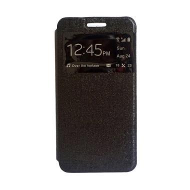 MyUser Flip Cover Casing for Samsung Galaxy A9 Pro or A910 - Hitam