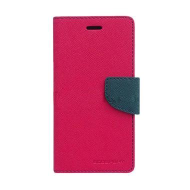 Mercury Fancy Diary Casing for Xiaomi Note - Magenta Biru Laut