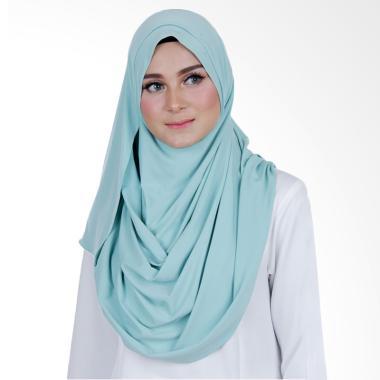 Cantik Kerudung Sheefa 2 Face Lycra Hijab Instan - Mint Green