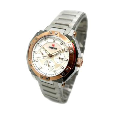 Expedition 6385 Jam Tangan Wanita - Silver Rosegold White Lady