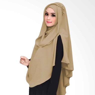 Kus Group Hijab Khimar Al Zaina Kerudung Instan Syar'i Cream