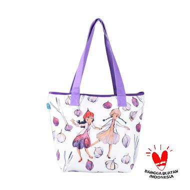 SPEKTAFLASH – Kamalika Artprints Bawang Ungu Shopping Bag Medium