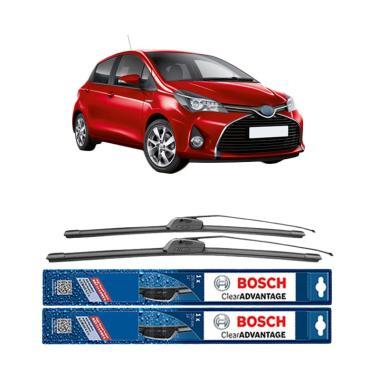 Bosch Wiper Frameless New Clear Advantage for Toyota Yaris [24 & 14 Inch]
