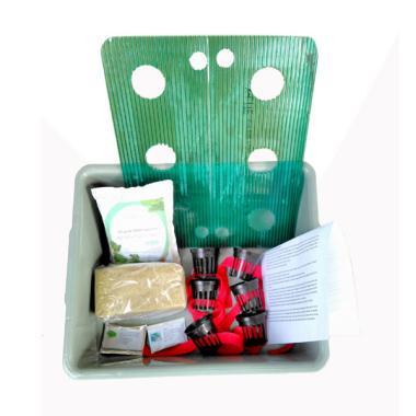 Puriegarden Wick System Starter Kit Hidroponik [6 Lubang]