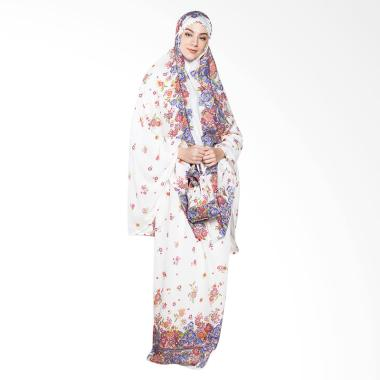 Aira Muslim Butik AB.MK.009 Gardenia Prayer Set Hijab - White
