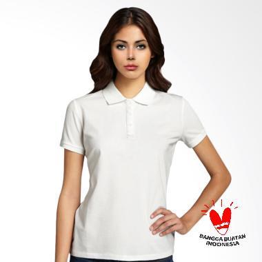 Morning Whistle Basic Polo Shirt Wanita - White Dove