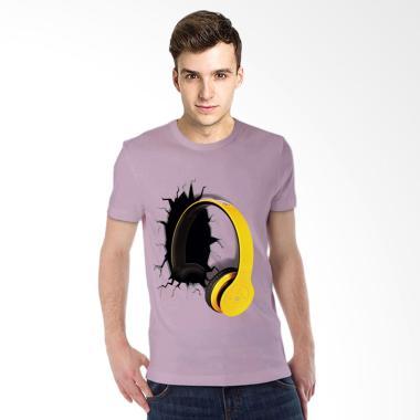 T-Shirt Glory Kaos 3D Airphone Drag Atasan Pria - Ungu Muda
