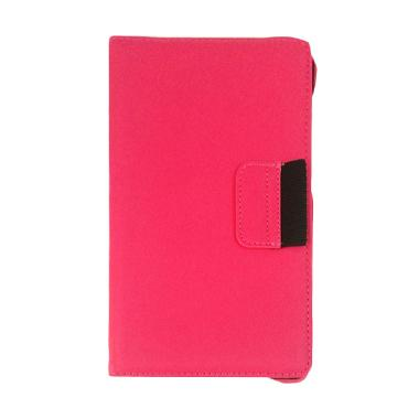 VR Leather Bookcover Flip Cover Cas ... exus 7 Inch [2013] - Pink