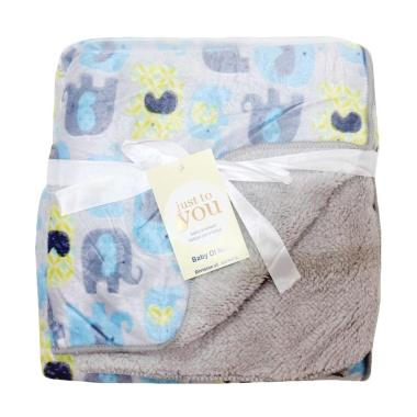 Adora Baby Selimut Bayi Just To You Double Fleece Elephant - Grey