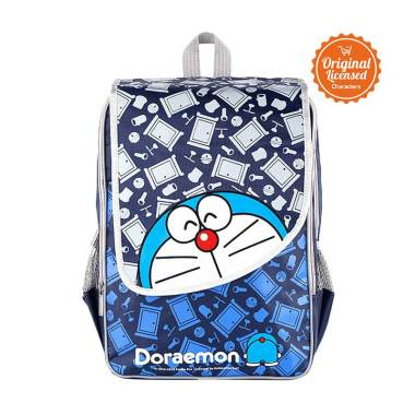 Doraemon Doors Double Rucksack Large With Flip Tas Sekolah Anak