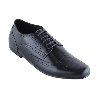 Eclipse 7 ISTANBUL Brogue Wingtip Leather Formal Men Shoes - Black