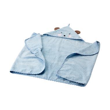 Ikea Badet Baby Towel Handuk Mandi Bayi Bertopi - Biru Muda [60x125 cm]