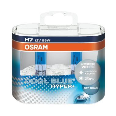 OSRAM H7 CBH+ Cool Blue Hyper Plus Halogen Bohlam Lampu [5000K/55 W/12 V]