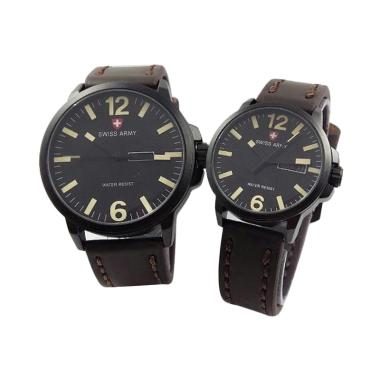 Swiss Army SA 4421 Jam Tangan Couple - Coklat Tua