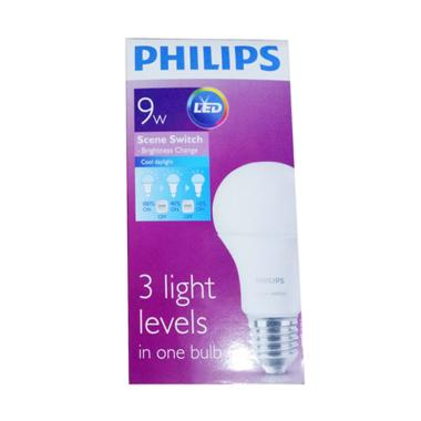 PHILIPS LED Scene Switch with 3 Step Light Level Bohlam Lampu [9 W]