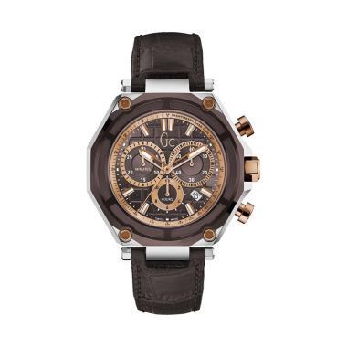 Guess Collection Leather Jam Tangan Pria Gc X10003G4S - Coklat