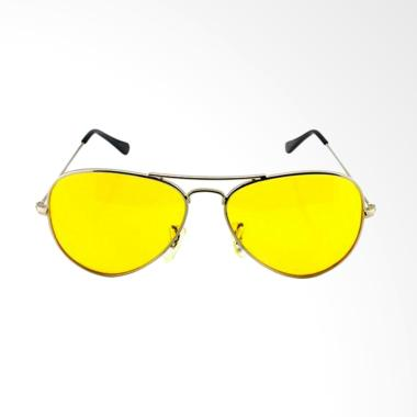 DQueeny Shop Kacamata Night View Glasses Kacamata Anti Silau - Kuning
