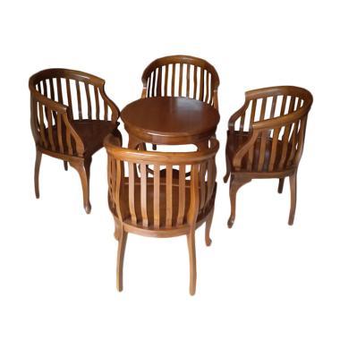 Mahardika Furniture 01 Jati Set Kursi Betawi - Cokelat