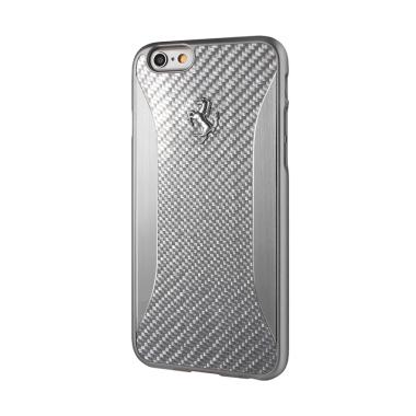 Ferrari Carbon Brushed Alu Casing for iPhone 5 or iPhone SE - Silver