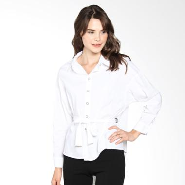 Papercut Fashion Bff Basic Shirt With Front Tie - White