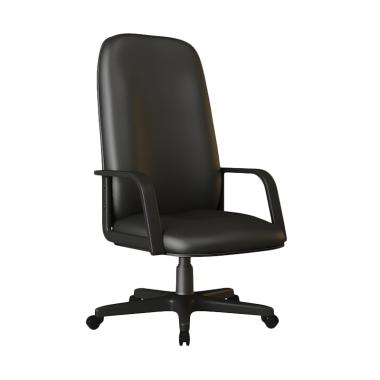 Verona Chair KD-151-HK Type Standard Vinyl Kursi Kantor - Hitam